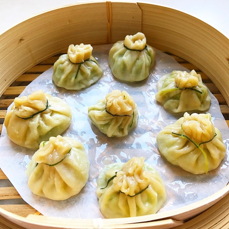 Dim Sum filled with Soya Beans, Cashews, Rosemary, Truffle